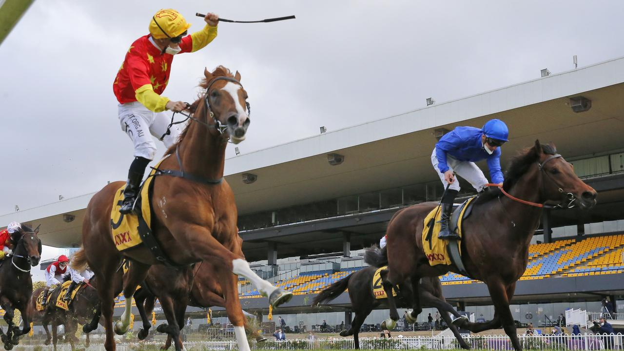 Gai Waterhouse would love for In The Congo (left) to run in The Everest if a slot became available. Picture: Getty Images
