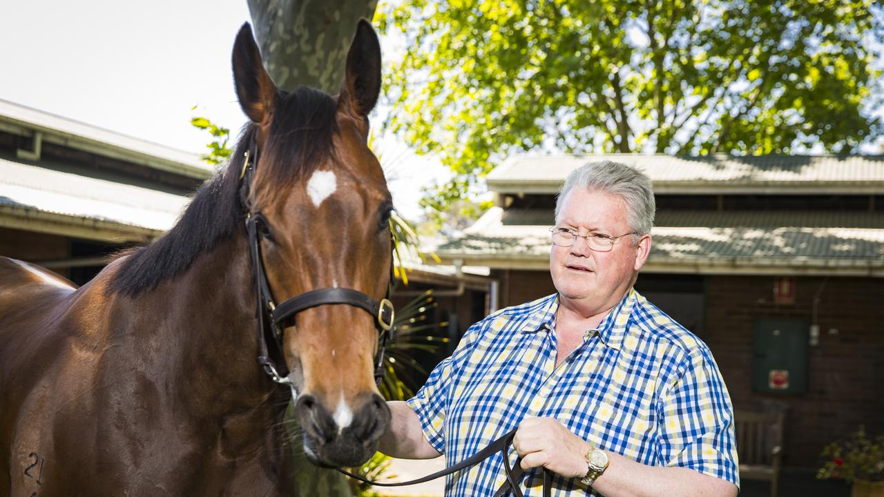 Anthony Cummings with his stable star Libertini. Photo: Dylan Robinson.