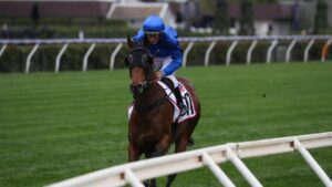 Colette on her way to the barriers for the Makybe Diva Stakes at Flemington. Picture: George Salpigtidis–Racing Photos via Getty Images