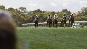 Racing at Strathalbyn. Picture: Ben Searcy