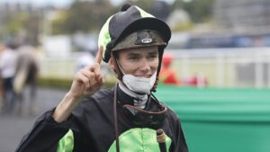 Regan Bayliss was all smiles a week ago after winning the Epsom Handicap aboard Private Eye. Picture: Getty Images