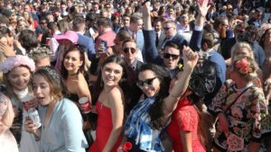 Crowds will start to return to most Victorian racecourses from November 4, which includes Oaks day at Flemington. Picture: AAP