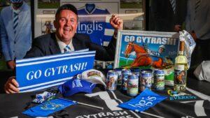 Simon Charlton with his Gytrash memorabilia at his Adelaide home. Picture: Tom Huntley