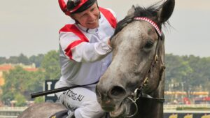 Kerrin McEvoy is aiming for back-to-back wins in The Everest with Classique Legend. Picture: Getty Images