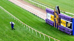 Caulfield missed the worst of the rain on Friday afternoon.
