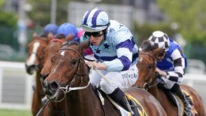 Daisies races away to win the Ethereal Stakes under Damian Lane. Picture: Racing Photos via Getty Images