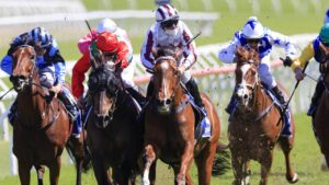 Art Cadeau and Tommy Berry wear down Handle The Truth to win The Kosciuszko. Picture: Getty Images