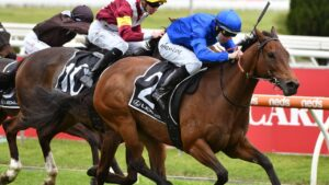 Colette was an impressive winner of the Tristarc Stakes at Caulfield. Picture: Getty Images
