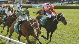Think It Over and Nash Rawiller made short work of the opposition in the Craven Plate at Randwick. Picture: Getty Images