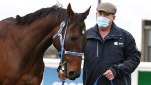 Trainer Peter Moody and Incentivise at Pakenham on Sunday. Picture: Michael Klein