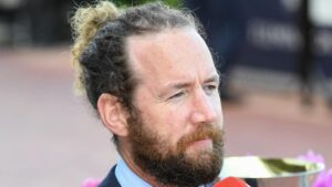 Ciaron Maher (pictured) and training partner David Eustace will run Gold Trip in Saturday's Cox Plate at The Valley. Picture: Racing Photos via Getty Images