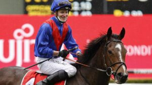 James McDonald will reunite with Cox Plate favourite Zaaki on Saturday. Picture: Getty Images