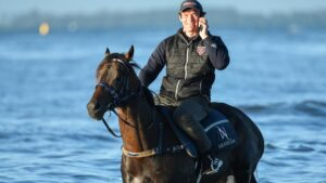 Mo'unga at Altona Beach this week. Picture: Getty Images