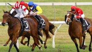 Madam Legend (left) is ready to cause an upset in the $2 million The Invitation at Randwick. Picture: Getty Images