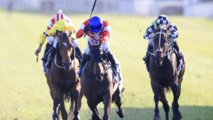 Kerrin McEvoy drives Icebath home a clear winner of The Invitation at Royal Randwick. Picture: Mark Evans–Getty Images