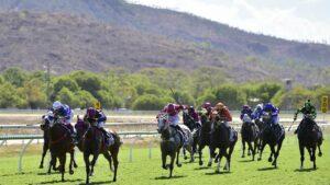 Horses race at Callaghan Park in Rockhampton. Picture: Matt Taylor.