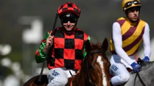 Jockey Matthew McGuren recommended to trainer Tony Newing to take Camp Rifle to Moree of the Cup on Friday. Picture: AAP Image